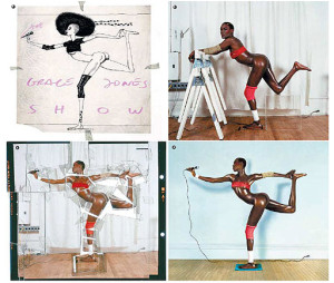 De 'making of' van de pose van Grace Jones